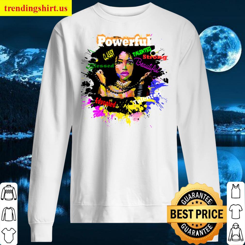 Black Women Positive Character Traits Long Sleeved Shirt