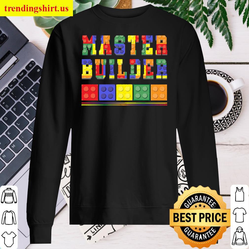 Cute Master Block Builder Bricks Long Sleeved Shirt